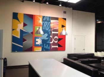 Printed Panels games room