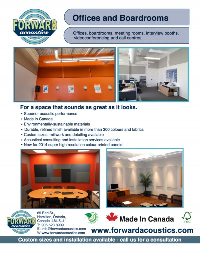 Forward Acoustics Offices and Boardrooms Infosheet